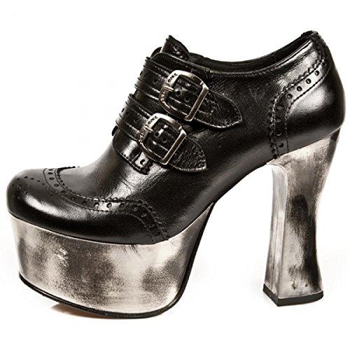 New Rock Boots M.dk020-c15 Gotico Hardrock Punk Damen Highheels Schwarz