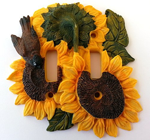Sunflower Kitchen Decor Double Switch Plate Cover by Vickilane Creative Design
