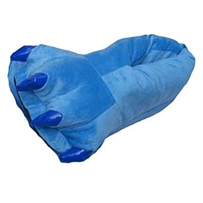 Win8Fong Cosplay Monster Paw Plush Slipper Monster Feet Slippers / 41-45 Blue: Home & Kitchen