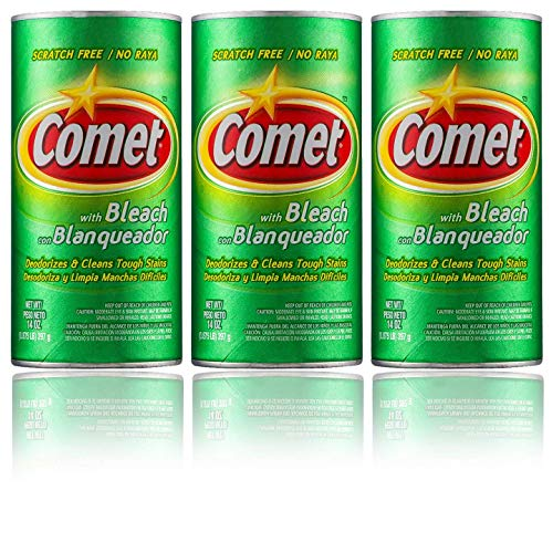 Comet Cleaner with Bleach Powder 14-Ounces | Scratch-Free | 3-Pack