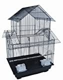 YML 18-Inch by 14-Inch Small Pagoda Top Bird Cage, Black, My Pet Supplies