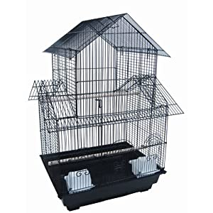 YML 18-Inch by 14-Inch Small Pagoda Top Bird Cage, Black 7
