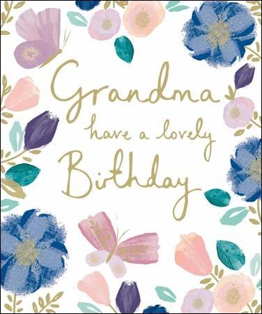 Tarjeta de felicitación - cumpleaños de la abuela - Blush ...