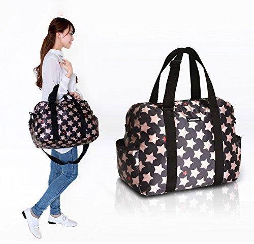 Global- 42 * 19 * 32cm Multifunción mujeres embarazadas Saliendo mochila, gran capacidad de poliéster paquete de la momia, de la manera extraña de viaje esencial multifunción mochila ( Color : # 3 ) # 3