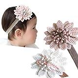 Baby Girl Super Elastic Headband Big Lace Petals