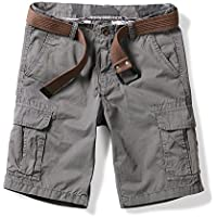 OCHENTA Men's Lightweight Multi Pocket Casual Cargo Shorts