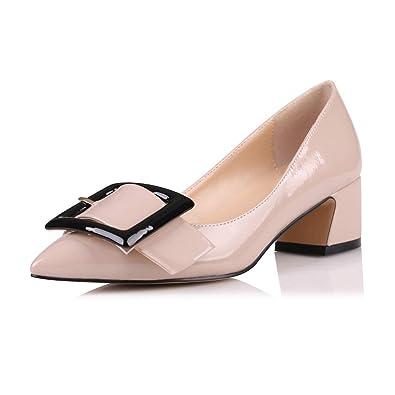 Amazon.com: Zapatos de tacón Eldof con puntera puntiaguda ...