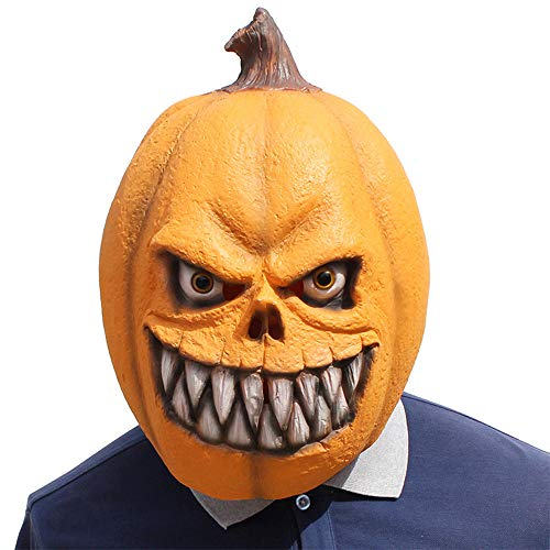 Halloween Novelty Mask Latex Pumpkin Head Mask Halloween Party Decoration Props