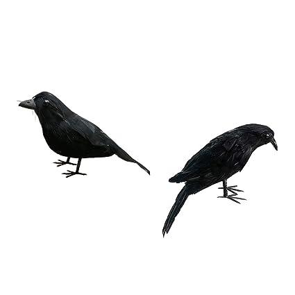 Rabe Krähe Waldvögel Figur Dekofigur Gartenfigur Dekoration