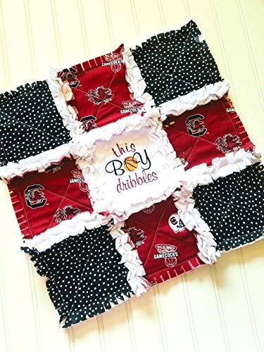 South Carolina Gamecocks Mini Rag Quilt or Crib Rag Quilt