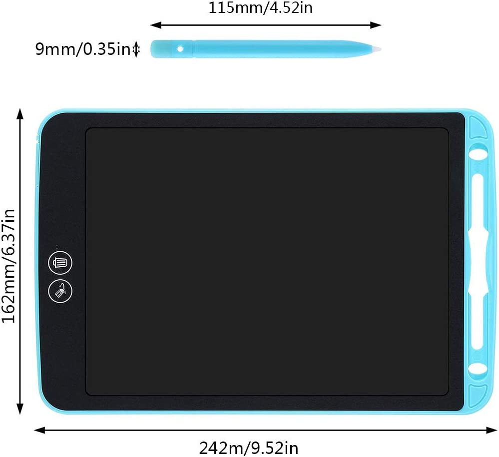1 PCS LCD Writing Tablet Electronic Graphic Drawing Board Durable Handwriting Pad with Stylus Digital Rewritten Drawing Board Tablet Gift for Kids School Office Kitchen Memo and Taking Notes