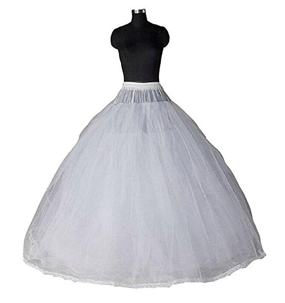 Gotidy Long 8 Layers Hoopless Ball Gown Petticoats