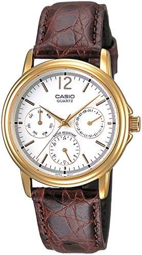 カシオ CASIO STANDARD スタンダード アナログ 腕時計 ホワイト ブラウン カーフベルト MTP-1174Q-7AJF 国内正規品