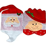 Pushhr Party Dining Snowman Decorations Covers Decoration Red 2pcs/set Santa Christmas Chairs Coverings Christmas Mrs
