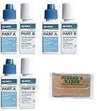 Nimrod's Wares 3-Pack Aquamira Water Treatment Drops Kills Bacteria Survival 30 gal. 67202 with Microfiber Cloth