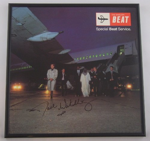 Dave Wakeling The English Beat Special Beat Service Signed Autographed Lp Record Album with Vinyl Framed Loa by...