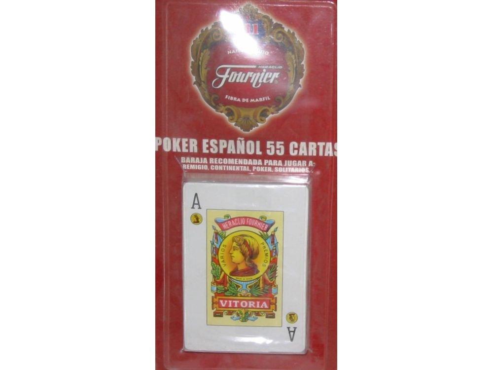 Fournier - Baraja Poker español, 55 Cartas en blíster