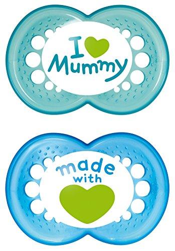 MAM 66736711 - Original Silikon I love mummy 6+ boy, Doppelpack