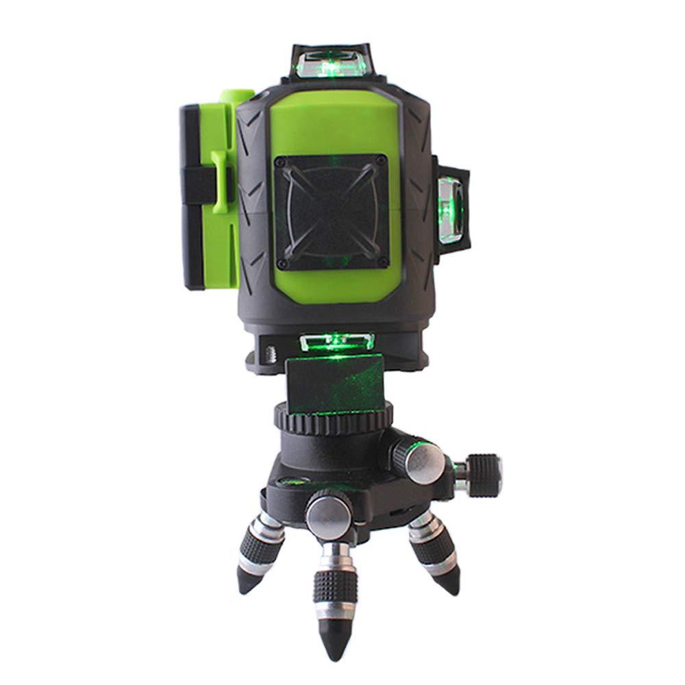 FUKUDA Niveau Laser 16 Lignes 4D /à nivellement Automatique Ajustement Horizontal et Vertical /à 360 degr/és T/él/écommande pour visibilit/é Plus /élev/ée,Vert,16Line