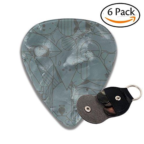 Simple Lines Animal Mouse Koala 351 Shape Guitar Picks 6 Pack Includes Thin, Medium & Heavy Gauges For Electric Guitar, Acoustic Guitar, Mandolin, And - Shape Koala