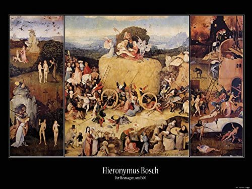 e305a81e263 Amazon.com  Posters  Hieronymus Bosch Poster Art Print - The Haywain  Triptych