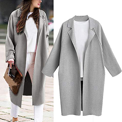 Amazon.com: Gallity Womens Lapel Outerwear Loose Coat ...