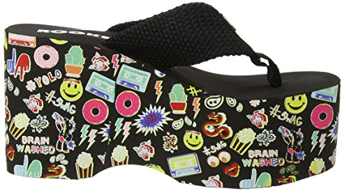 Top Multicolore Rocket Black black Femme Dog Big Tongs qOqfSwE