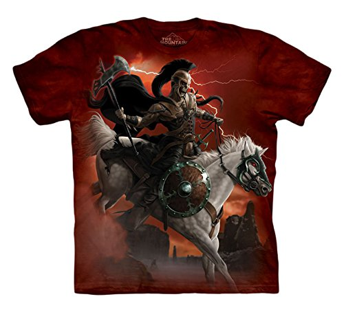 The Mountain Dark Rider Adult T-Shirt, Red, Small