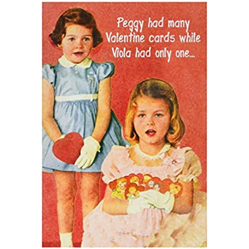 NobleWorks 2182 Peggy Is A Whre Funny Valentine's Day Unique Greeting Card, 5 x 7 Sales