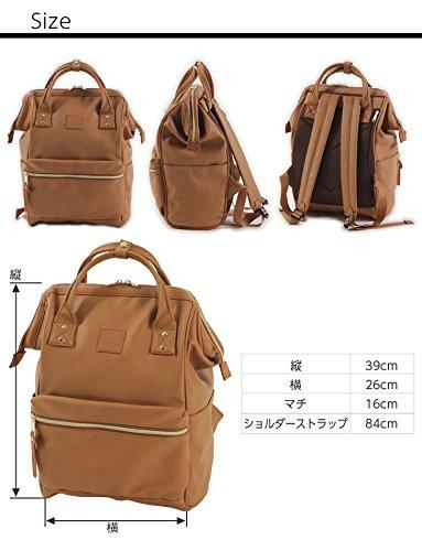 Amazon.com | Japan Anello Backpack Unisex NAVY LARGE PU LEATHER Rucksack Quality School Bag Campus | Kids Backpacks