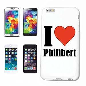 """cubierta del teléfono inteligente Samsung Galaxy S5 """"I Love Philibert"""" Cubierta elegante de la cubierta del caso de Shell duro de protección para el teléfono celular Samsung Galaxy S5 … en blanco ... delgado y hermoso, ese es nuestro hardcase. El caso se fija con un clic en su teléfono inteligente"""