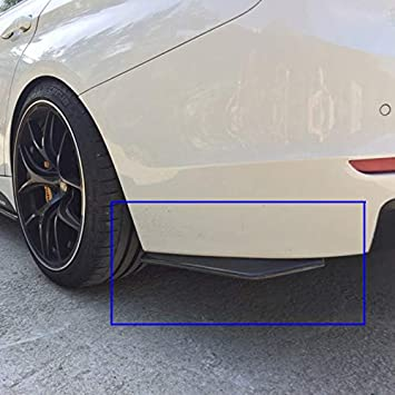 4pcs Carbon Fiber Pattern Trim Front Bumper Canards Fins Body Diffuser Splitters Kits Universal Fit For Most Car Xotic Tech Direct