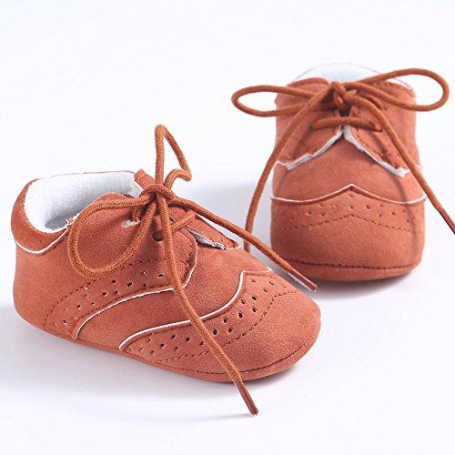 etrack-online Baby Boys Deportes zapatillas Prewalker Cuna cordones zapatos de Babe gris gris Talla:6-12 mes rojo marrón