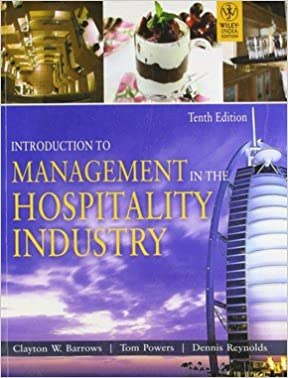 Book Introduction to Management in the Hospitality Industry-International Edition