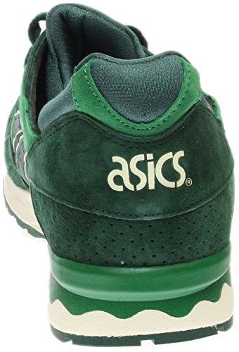 Asics Gel Mens-lyte V Cuir / Synthétique Cheville Haute Chaussure De Tennis Vert Foncé / Vert Foncé