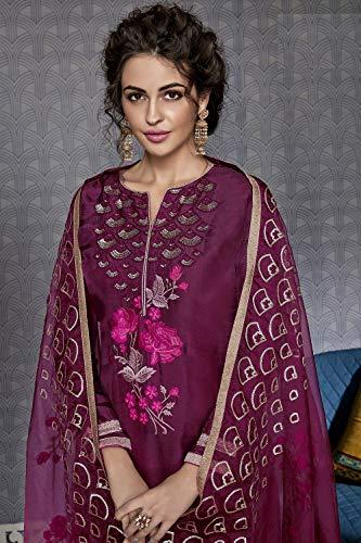 Facioun Salwar Women Traditonal Da Indian Partywear Ethnic KameezMarron Designer MSVpUz