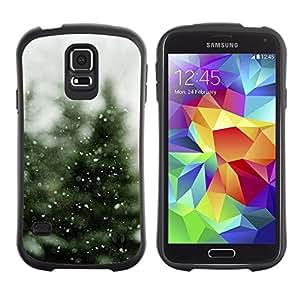 Suave TPU Caso Carcasa de Caucho Funda para Samsung Galaxy S5 SM-G900 / Tree Christmas Winter Snow / STRONG