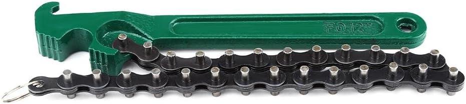 Qiilu Auto Kette Typ /Öl Kraftstofffilter Schraubenschl/üssel Removal Tool 12 Zoll