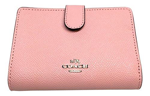 Coach Crossgrain Leather Medium Corner Zip Wallet F11484 (Blush 2)