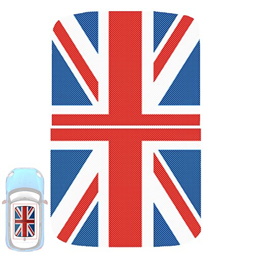 Paileco Automotive Sunroof Vinyl Sticker for R55 R56 (1set 2pcs, Union Jack Flag, Vinyl)