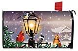 The Gathering Winter Mailbox Cover Lamp Post Cardinals...