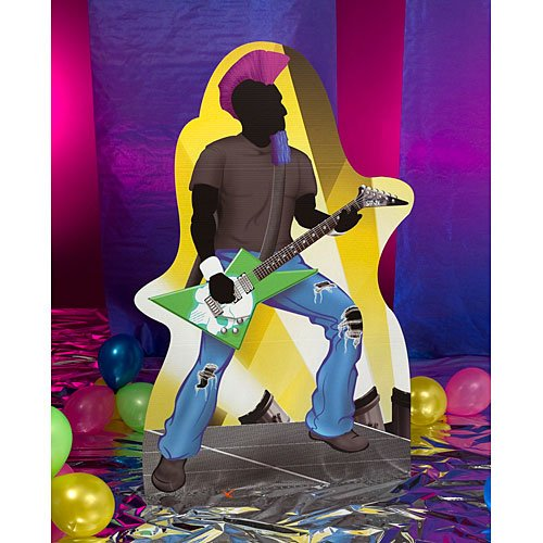 6 ft. Rock Star Guitar Player Rock n Roll Standee Standup Photo Booth Prop Background Backdrop Party Decoration Decor Scene Setter Cardboard Cutout ()