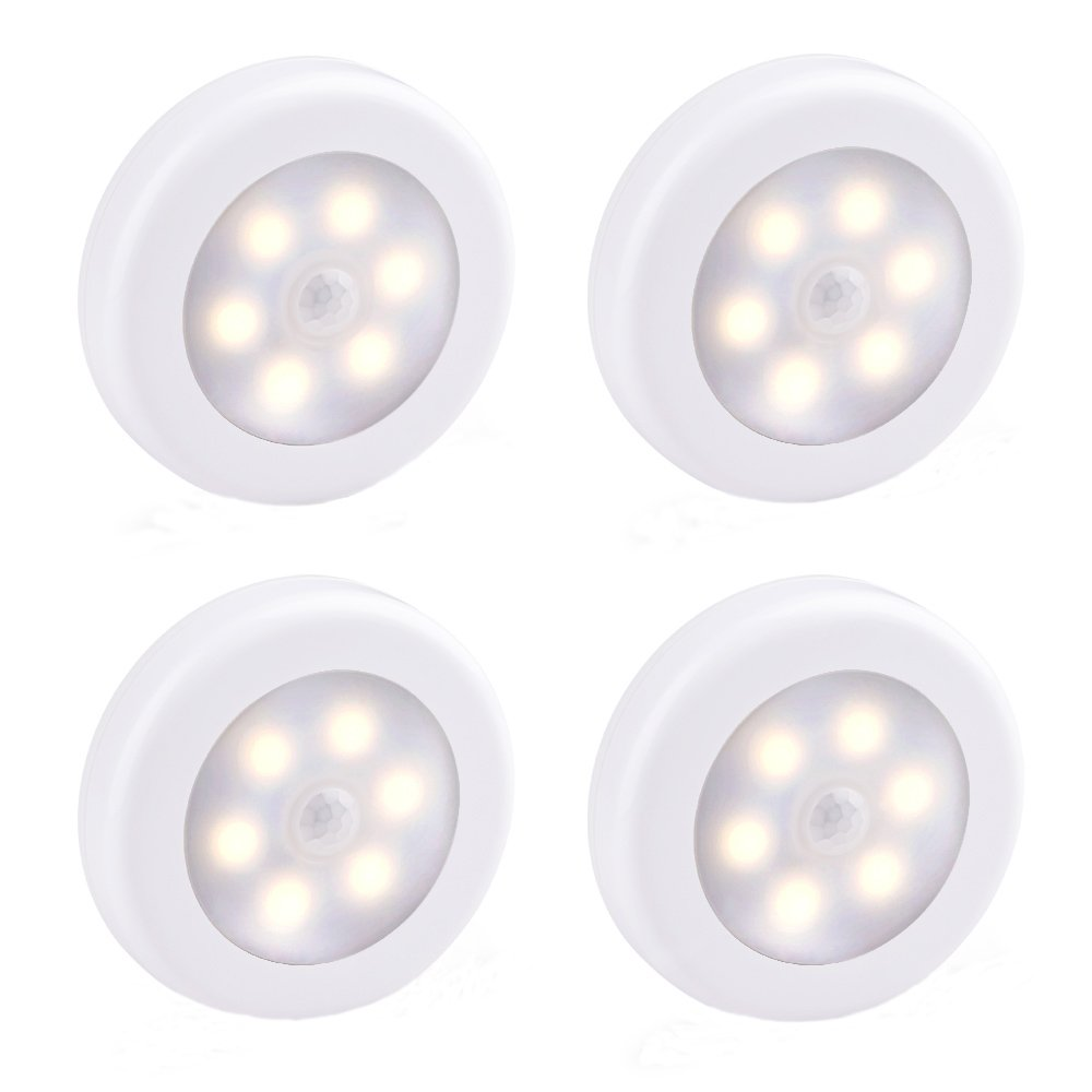 LUCKLED 4 PCS Wireless Motion Sensor Light