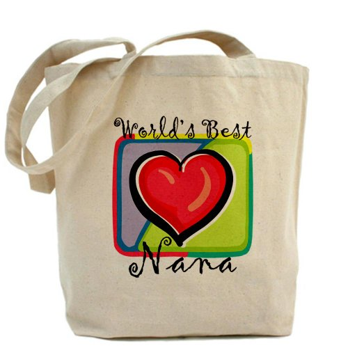 Cafepress – World' s Best nana – Borsa di tela naturale, tessuto in iuta