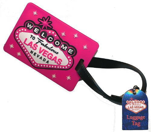 Las Vegas Sign Pink Luggage Tag