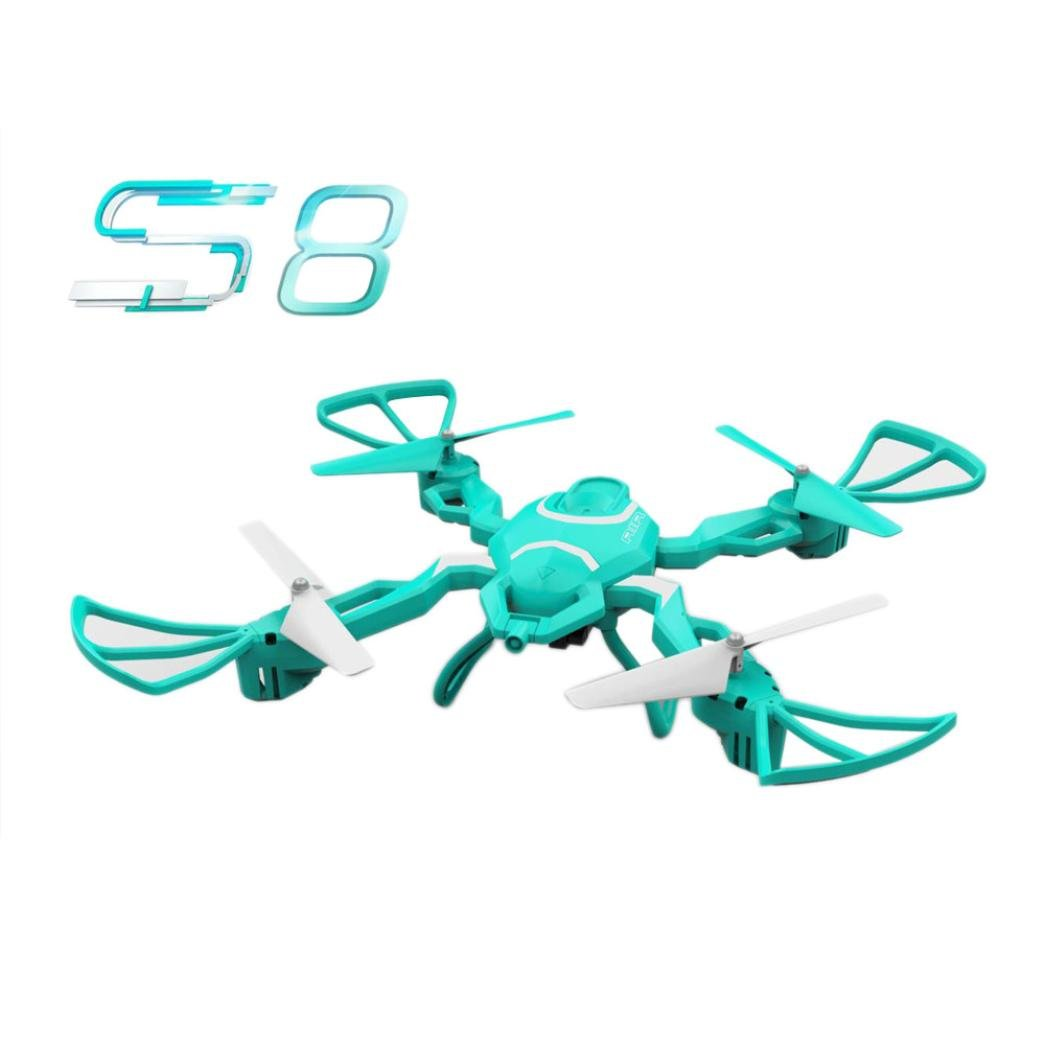 Kingko® Faltende kühle Form HEISSE 2.4G 4CH Höhe Hold HD Kamera WIFI FPV RC Quadcopter Drone Selfie (Schwarz)