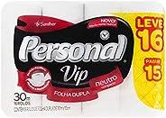Papel Higiênico VIP, Folha Dupla, Personal, 16 unidades