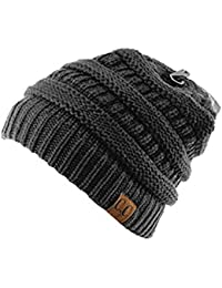 Trendy Warm Chunky Soft Stretch Cable Knit Beanie Skully 6e8fcea854