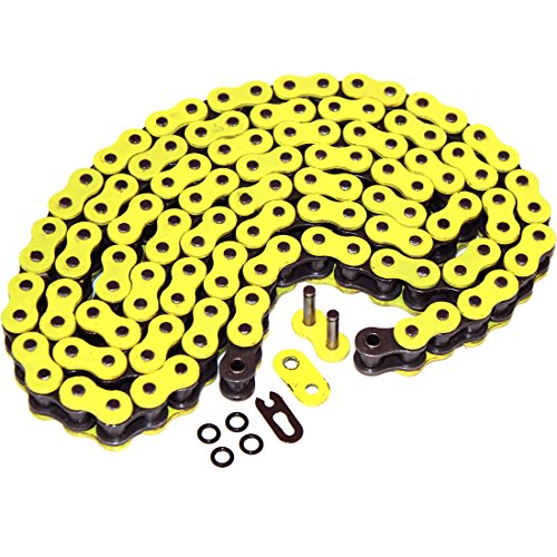 Caltric O-RING Yellow DRIVE CHAIN Fits SUZUKI GSXR1000 GSXR 1000 GSX-R1000 - Suzuki Gsxr1000 Chain