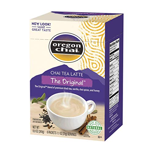 Oregon Chai Chai Tea Latte Original Powdered Mix, 8 Packets
